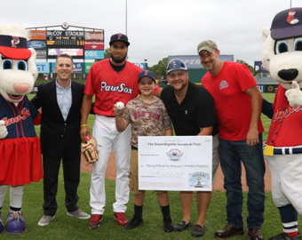 Throwing Out The 1st Pitch At A<br>PawSox Game Was Life-Changing